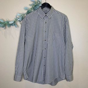 Nautica ~ 80's Two-Ply Button Down Long Sleeve